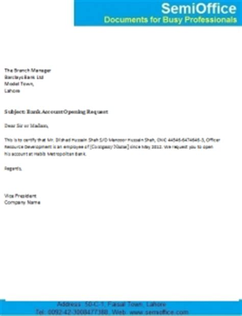 Application Letter New Bank Passbook - Sample Letter to a